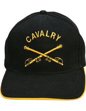Cap (DC-AR/205) Black with Cavalry Branch Of Service (3D)