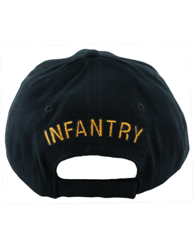 Cap (DC-AR/214A) Black with Infantry Branch Of Service with Bill Embroidery small