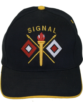 Cap (DC-AR/228) Black with Signal Branch Of Service (3D)