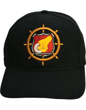 Cap (DC-AR/232) Black with Transportation Branch Of Service (3D)