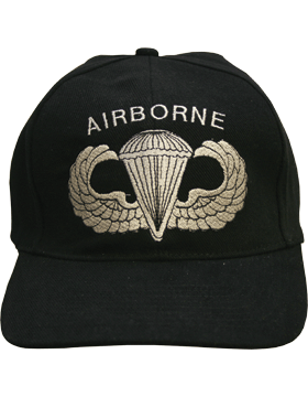 Cap (DC-AR/300) Black with Parachutist Badge (3D) and Airborne