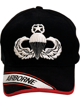 Cap (DC-AR/302) Black with Master Parachutist Badge (3D) and Airborne