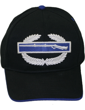 Cap (DC-AR/304) Black with Combat Infantry Badge (3D)