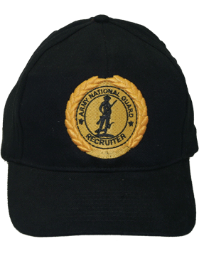 Cap (DC-AR/806) Black with National Guard Master Recruiter Badge