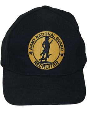 Cap (DC-AR/807) Black with National Guard Senior Recruiter Badge Gold