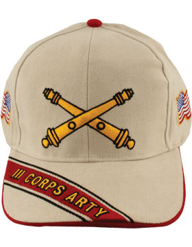 Cap (DC-AR/BOS-0003C) Stone with 3 Corps Artillery Branch Of Service