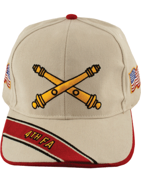 Cap (DC-AR/BOS-0004A) Stone with 4 Field Artillery Branch Of Service