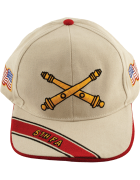 Cap (DC-AR/BOS-0005B) Stone with 5 Field Artillery Branch Of Service