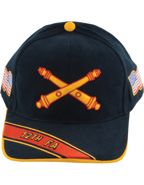 Cap (DC-AR/BOS-0012A) Black with 12 Field Artillery Branch Of Service