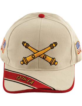 Cap (DC-AR/BOS-0013B) Stone with 13 Field Artillery Branch Of Service