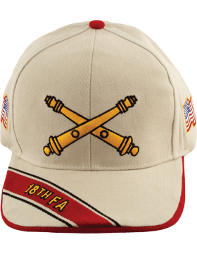 Cap (DC-AR/BOS-0018B) Stone with 18 Field Artillery Branch Of Service