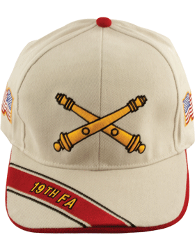Cap (DC-AR/BOS-0019B) Stone with 19 Field Artillery Branch Of Service