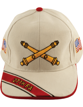 Cap (DC-AR/BOS-0027B) Stone with 27 Field Artillery Branch Of Service
