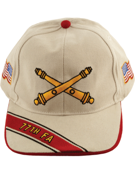Cap (DC-AR/BOS-0077B) Stone with 77 Field Artillery Branch Of Service