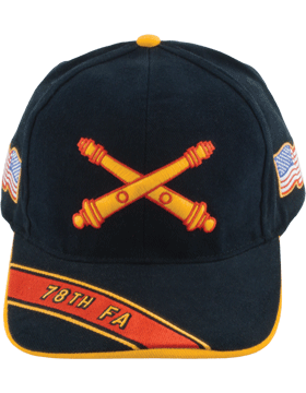 Cap (DC-AR/BOS-0078A) Black with 78 Field Artillery Branch Of Service