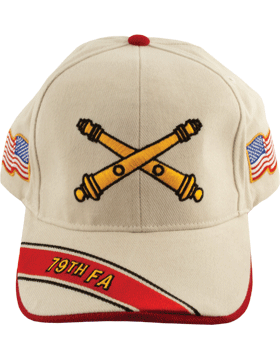 Cap (DC-AR/BOS-0079B) Stone with 79 Field Artillery Branch Of Service