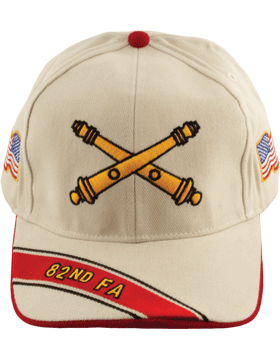 Cap (DC-AR/BOS-0082B) Stone with 82 Field Artillery Branch Of Service