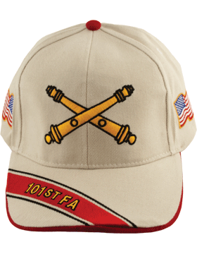 Cap (DC-AR/BOS-0101B) Stone with 101 Field Artillery Branch Of Service