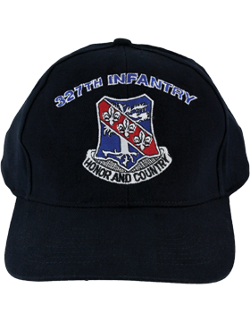 Cap (DC-AR/DUI-0327A) Black with 327 Infantry Crest