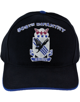 Cap (DC-AR/DUI-0505A) Black with 505 Infantry Crest