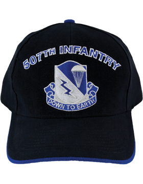 Cap (DC-AR/DUI-0507A) Black with 507 Infantry Crest