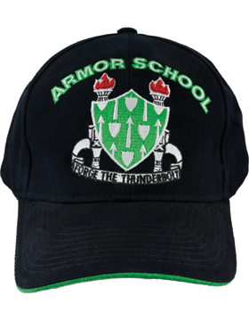 Cap (DC-AR/DUI-AR) Black with Armor School Crest