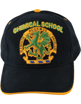 Cap (DC-AR/DUI-CHEM) Black with Chemical School Crest