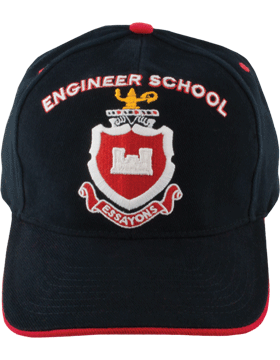 Cap (DC-AR/DUI-ENG) Black with Engineer School Crest