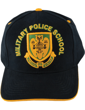 Cap (DC-AR/DUI-MP) Black with Military Police School Crest