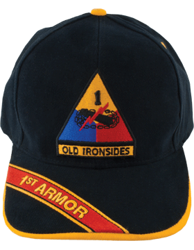 Cap (DC-AR/P-0001A) Black with 1 Armor Division Patch