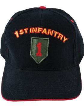 Cap (DC-AR/P-0001C) Black with 1 Infantry Division Patch
