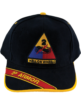 Cap (DC-AR/P-0002B) Black with 2 Armor Division Patch