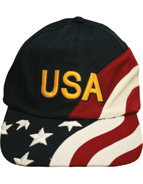Cap (DC-FL/0001A) Navy with American Flag and USA (3D)