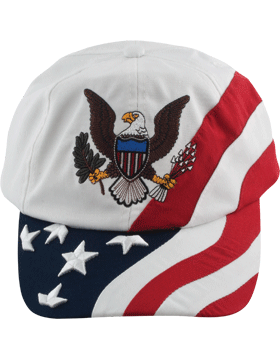 Cap (DC-FL-0004A) Navy with American Flag and Army Eagle (3D)