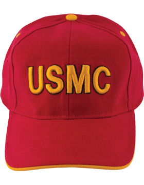 Cap (DC-MC/006A) Red with U.S. Marine Corps (3D)