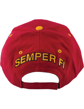 Cap (DC-MC/006A) Red with U.S. Marine Corps (3D) small