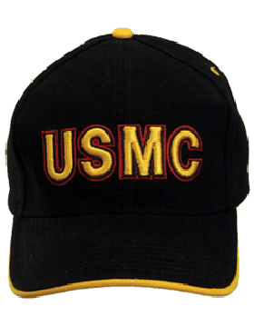 Cap (DC-MC/009A) Black with U.S. Marine Corps (3D)