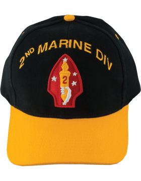 Cap (DC-MC/P-002A) Red with 2 Marine Division Patch