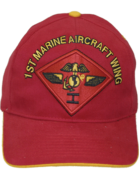 Cap (DC-MC/P-011A) Red with 1 Marine Air Wing Patch