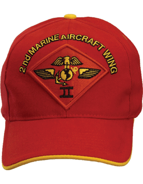 Cap (DC-MC/P-012A) Red with 2 Marine Air Wing Patch