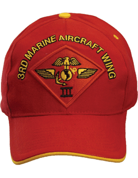 Cap (DC-MC/P-013A) Red with 3 Marine Air Wing Patch