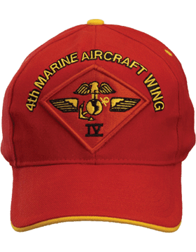 Cap (DC-MC/P-014A) Red with 4 Marine Air Wing Patch