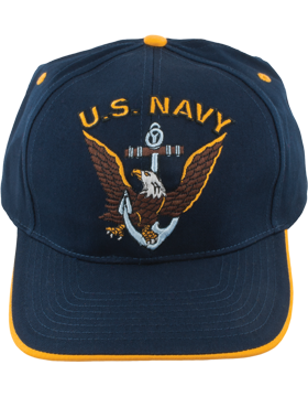 Cap (DC-NY/001A) Navy with U.S. Navy (3D) and Eagle