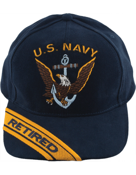 Cap (DC-NY/002A) Navy with U.S. Navy (3D) and Eagle Retired