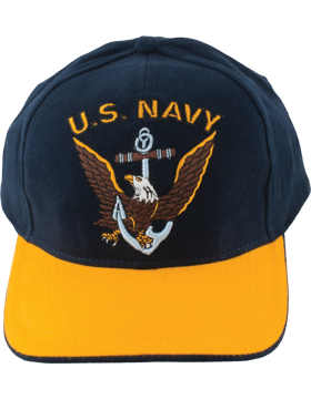 Cap (DC-NY/004A) Navy and Gold with U.S. Navy (3D) and Eagle