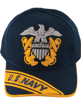 Cap (DC-NY/200A) Navy with Gold Trim with Navy Officer Cap Device (3D)