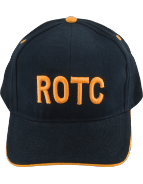 Cap (DC-RC-002A) Black and Gold with ROTC in Gold Letters (3D)
