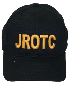Cap (DC-RC-003A) Black with JROTC in Gold Letters (3D)