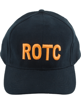 Cap (DC-RC-004A) Black with ROTC in Gold Letters (3D)