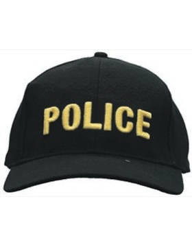 Cap (DC-U-0001A) Black with POLICE (3D) Gold